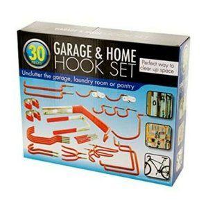 30 Piece Assorted Garage & Home Hook Set Metal